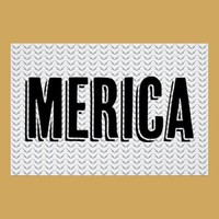 Merica poster with gun chevron pattern from Zazzle.com