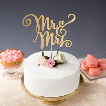 Mr and Mrs | Cake Topper