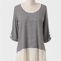 Charmante Femme Striped Top