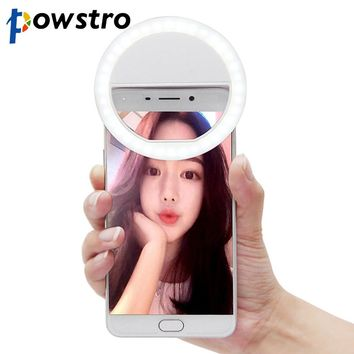 Universal LED Photography Flash Light Up Selfie Luminous Lamp Night Phone Ring