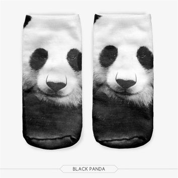 3D Printing Animal women Socks Casual Cute Animal modelling Sock Unisex Cut Ankle Socks Multiple Colors Shark Tiger Panda sock