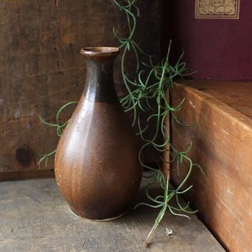 Brown Rustic Ceramic Vase