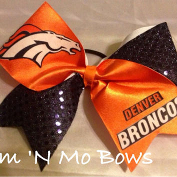 Denver Broncos Cheer Bow