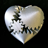 Steampunk Rotating Gear Heart (3D Printed)