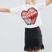 ASOS T-Shirt with Motel Rose Print at asos.com