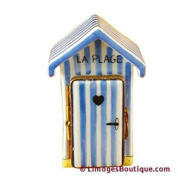 BEACH CHANGING HUT-FRENCH LIMOGES BOXES