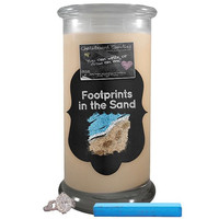 Footprints In The Sand Chalkboard Candle
