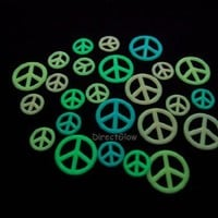 Glow In The Dark Peace Sign Symbols