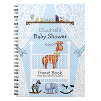 New Born Nursery-Baby Shower Guest Book- Notebooks
