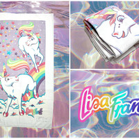VINTAGE Lisa Frank Unicorn Towel - RARE ! -- * Free shipping *