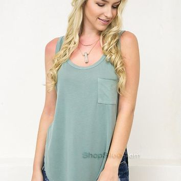 Casual Summer Tank | Sage
