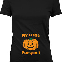 My Little Pumpkin Shirt Pregnancy Reveal Shirt Halloween Pregnancy Announcement T Shirt Gifts For Pregnant Women Ladies MD-495