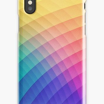 'Spectrum Bomb! Fruity Fresh (HDR Rainbow Colorful Experimental Pattern)' iPhone Case/Skin by badbugs