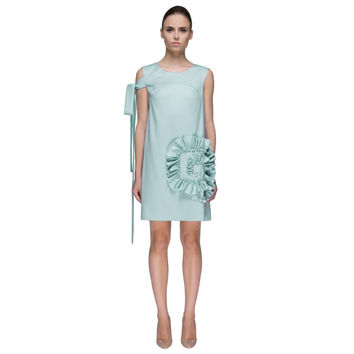 'Chic Mint Candy' Unique Right Side Bow Tie Designer Dress
