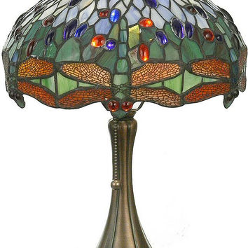 "0-009214>19""h Hanginghead Dragonfly Accent Lamp"