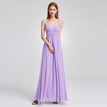 Lavender Sleeveless Long Day Dress