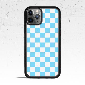 Checkerboard Light Blue Phone Case Cover for Apple iPhone Samsung Galaxy S & Note