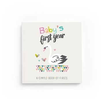 Swan Keepsake Baby Memory Book