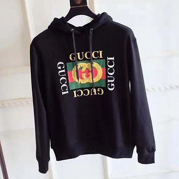 584db5c6476 GUCCI Women Man Fashion Snake Embroidery Beads Top Sweater Pullover Hoodie