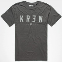 Kr3w Lock Up Mens T-Shirt Grey  In Sizes