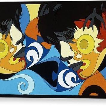 Gemini Painting With Hidden Pictures - Canvas Print
