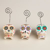 Mini Skull Photo Clips, Set of 3 | World Market