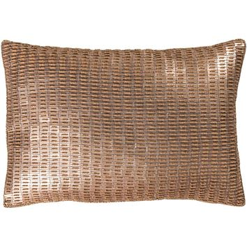 Ankara Pillow Kit - Metallic - Champagne, Tan, Khaki - Down - ANK002