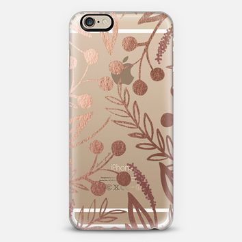 Rose Gold Garden Party iPhone 6s case by OLIVE + JUDE | Casetify