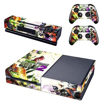 Plants VS Zombies GW2 Vinyl Skin Sticker For Microsoft Xbox One Console & Kinect & 2 Controller Protective Stickers
