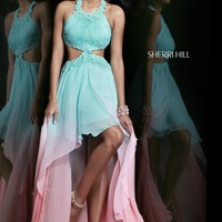 Sherri Hill 11140 Ombre High Low Prom Dress
