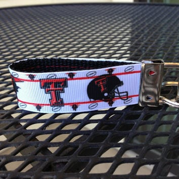 Texas Tech Keychain Fob by SweetKeeps on Etsy