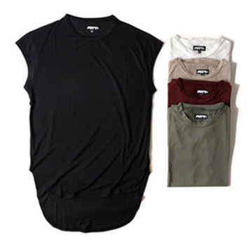 Extended Sleeveless T-Shirt