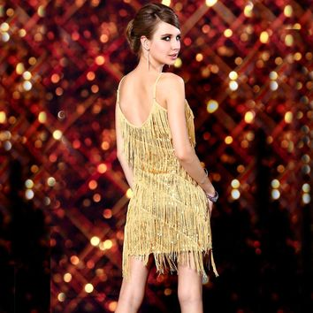 s Beaded Vintage Sequin Flapper Gatsby Dresses