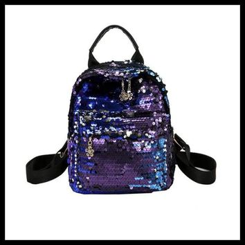 Women's Shinning Glitter Bling Backpack Preppy