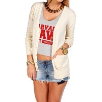 Ivory Elbow Patch Long Sleeve Sweater