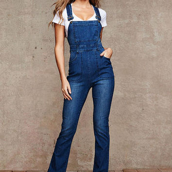 Natalia Highwaist Denim Overall