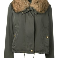 Yves Salomon cropped aviator jacket