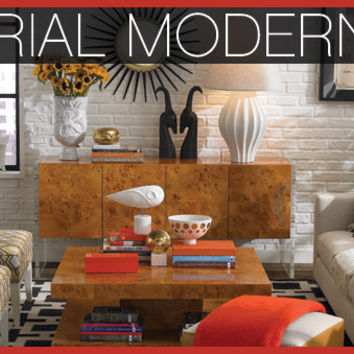 Industrial Modern Living Room at Jonathan Adler