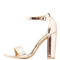 Metallic Two-Piece Sandals | Charlotte Russe