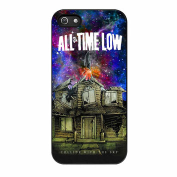 Pierce The Veil Band All Time Low Poster Galaxy Parody iPhone 5 Case