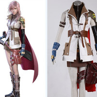 Lightning Costume, Lightning Cosplay Costume Uniform from Final Fantasy XIII