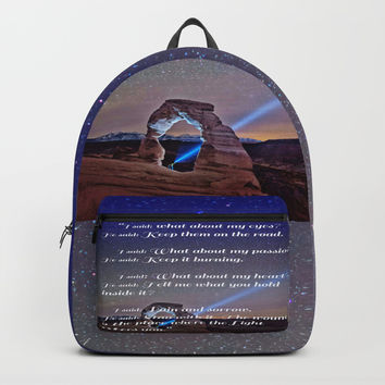 The Wound is The Place Where the Light Enters You - Rumi Backpacks by Lena Owens/OLenaArt