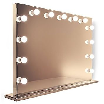 Diamond X Mirror Finish Hollywood Makeup Mirror Dimmable LED k253WW