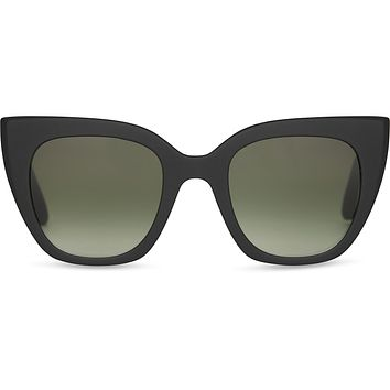 TOMS - TRAVELER Sydney Matter Black Sunglasses / Olive Gradient Lenses