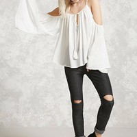 Open-Shoulder Peasant Top