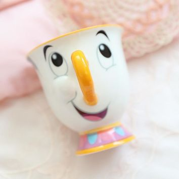 New Arrival Cartoon Beauty And The Beast Mug Mrs Potts Chip Tea Pot Cup Tea Set for friend Gift