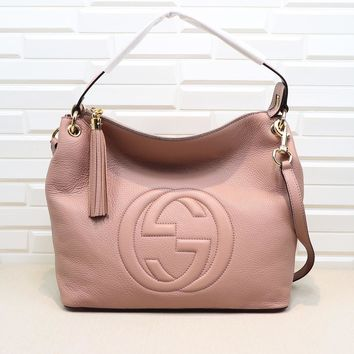 Gucci Women Shopping Leather Crossbody Satchel Shoulder Bag Pink