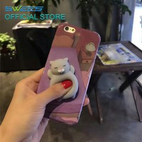 21 Patterns 3D Ushihito Squishy Phone Cat Case For iPhone 7 7 Plus Capa Soft Animal Kawaii Thin Case For iPhone 6 6s Plus Covers