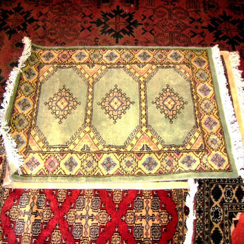 PERSIAN CARPET small rug oriental floral kilim baluch indian 2x3 hand knotted silk wool blend pakistani study bright green 300 kpsi on sale