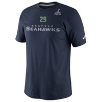 Nike Earl Thomas III Seattle Seahawks Super Bowl XLVIII Bound Name and Number T-Shirt - College Navy